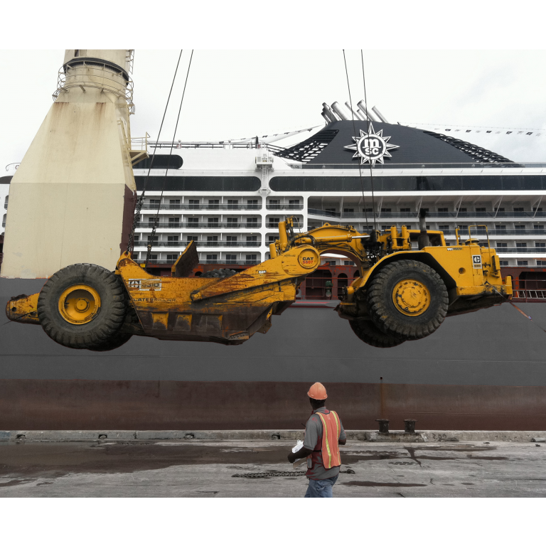 Machine Being Loaded png